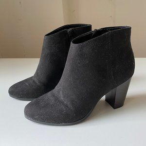 Ankle Black Booties with Heel